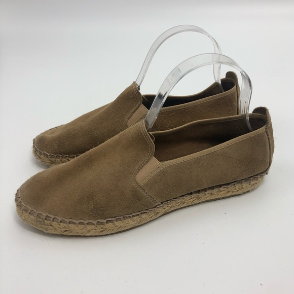 Free People Suede Tan Espadrilles Flats Loafers 10